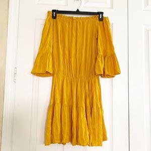 Asos off the shoulder ruffle summer dress